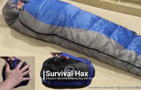 Survival Hax 3 Season Waterproof Mummy Sleeping Bag