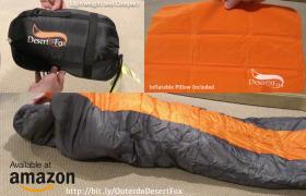 OUTERDO Desert Fox Lightweight Waterproof Sleeping Bag