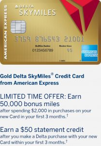 40,000 Bonus Miles† and $50 Statement Credit.