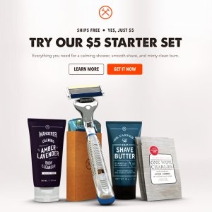 Dollar Shave Club - 5 Dollar Starter Kit