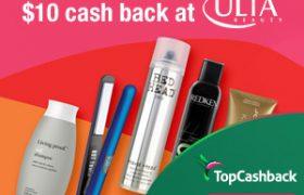 TopCashBack ULTA $10
