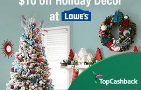 Topcashback Lowes $10 cash back
