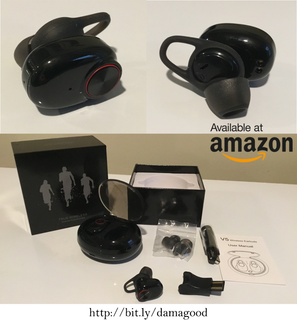 Damagood Wireless Earbuds - Available on Amazon