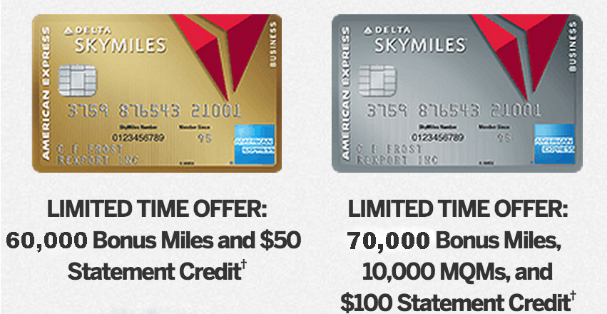 Delta Skymiles Card By American Express - Limited Time Offer 60k/70k Miles